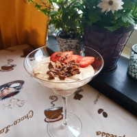 Chocolate Mousse With Daim  and Strawberries